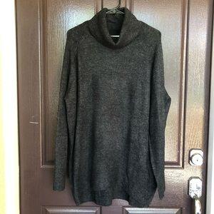 Gray turtleneck sweater!